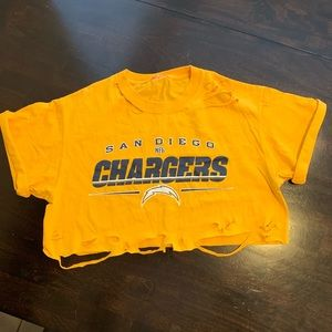 Tops - Vintage San Diego Chargers Crop Top Distressed